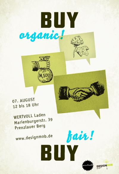 Webflyer für den Design Mob 2010 im Wertvoll, Marienburgerstraße 39 in Berlin-Prenzlauer Berg am 7. August 2010
