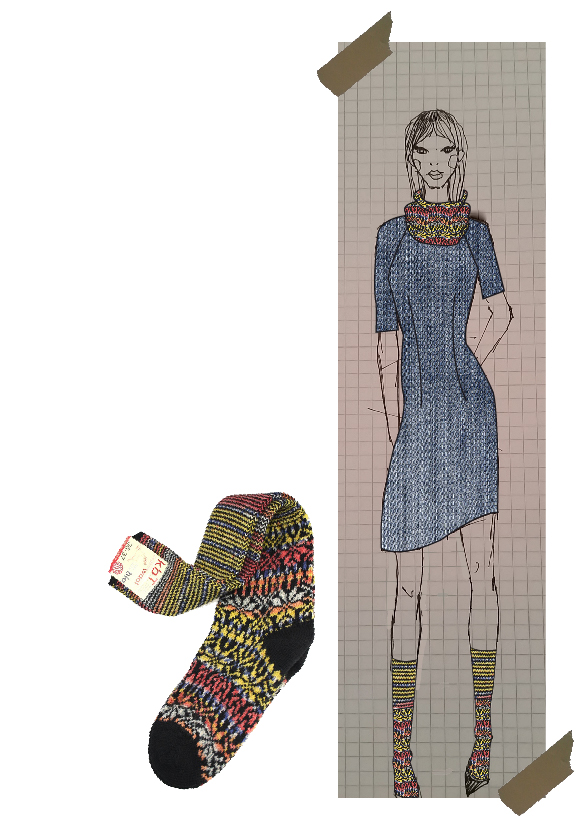 Illustration plus socke