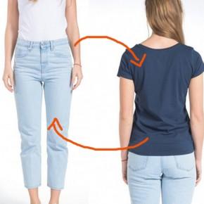 Be kind-rewind: Wie aus einer alten Jeans ein T-shirt wird