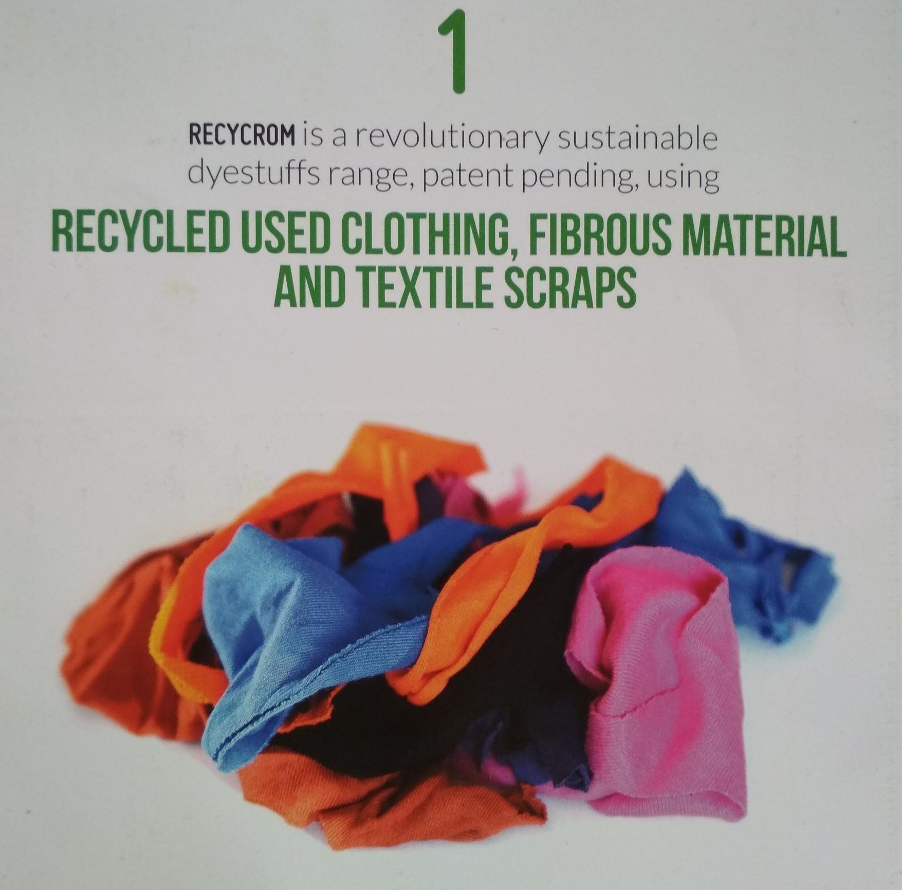 recycrom nachhaltiger farbe f r textilien designmob. Black Bedroom Furniture Sets. Home Design Ideas
