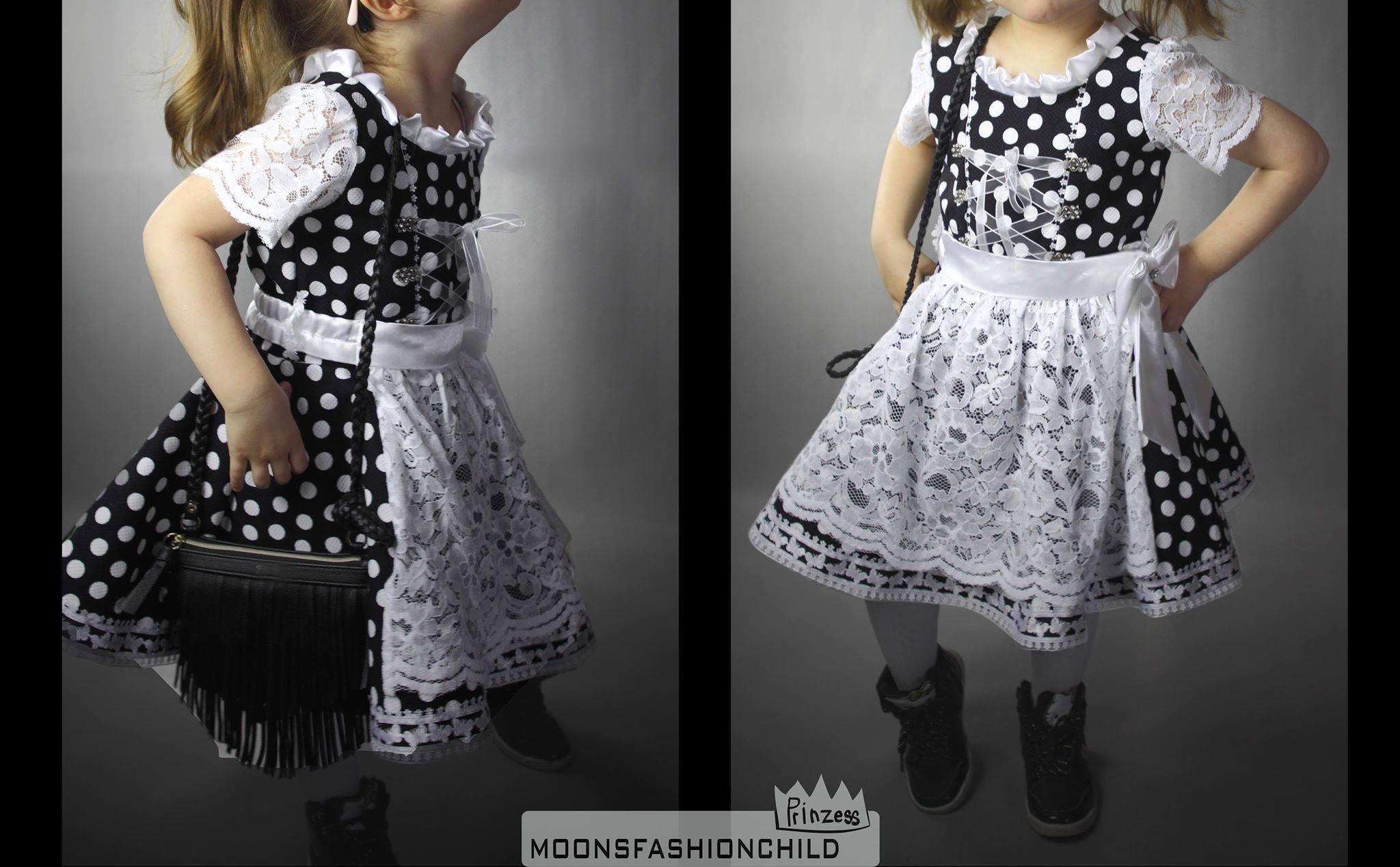 Auch die Kleinen werden entzückendst eingekleidet: Mondhirschtracht für Mädchen